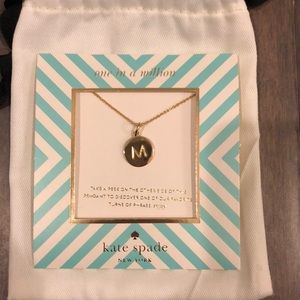 New Kate Spade 'M' Initial Necklace!